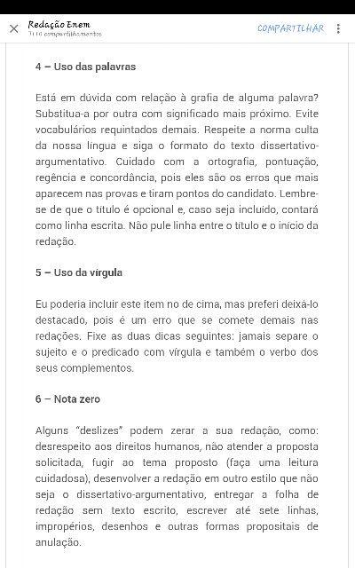 Língua Portuguesa  Redação  Dicas Enem Aprender e ou Relembrar