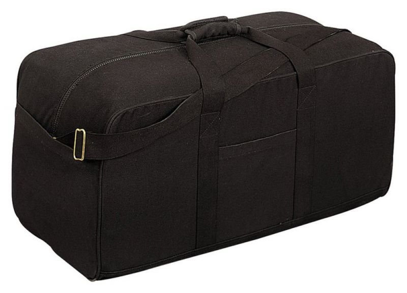 Bags and Pouches 175641: Rothco Canvas Assault Cargo Bag (Ft820), Black -> BUY IT NOW ONLY: $41.55 on eBay!