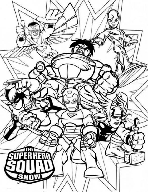 marvel hero free coloring pages - photo#43