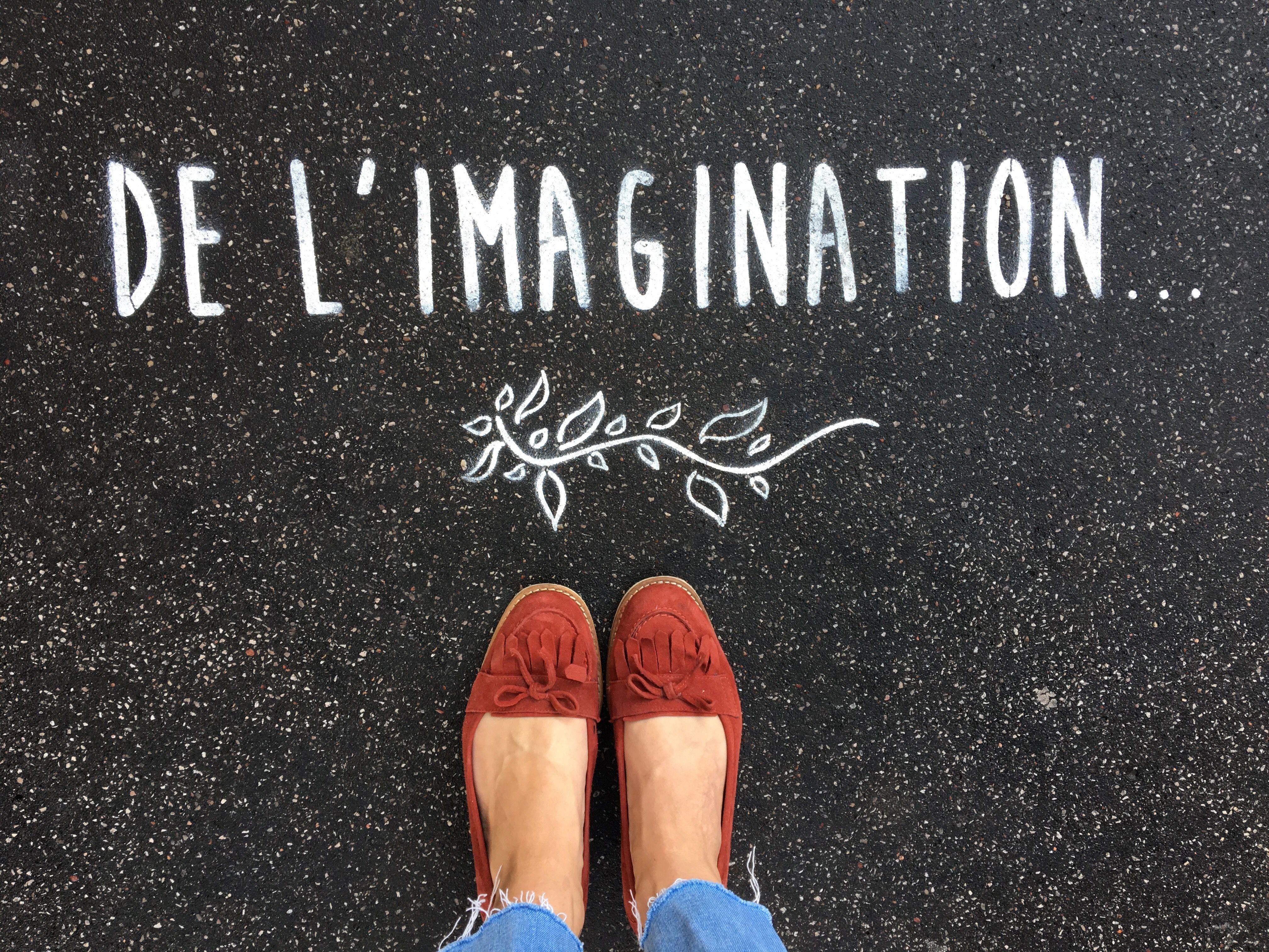 De l'imagination... In the streets of Paris • By Fantine & Simon • #paris #streetart #urbanart #graffiti #stencil #fantinetsimon #photography #love #amour #wild #iloveyou #flowers #paris #elegance www.fantineetsimo... ©Fantine&Simon 2 sem