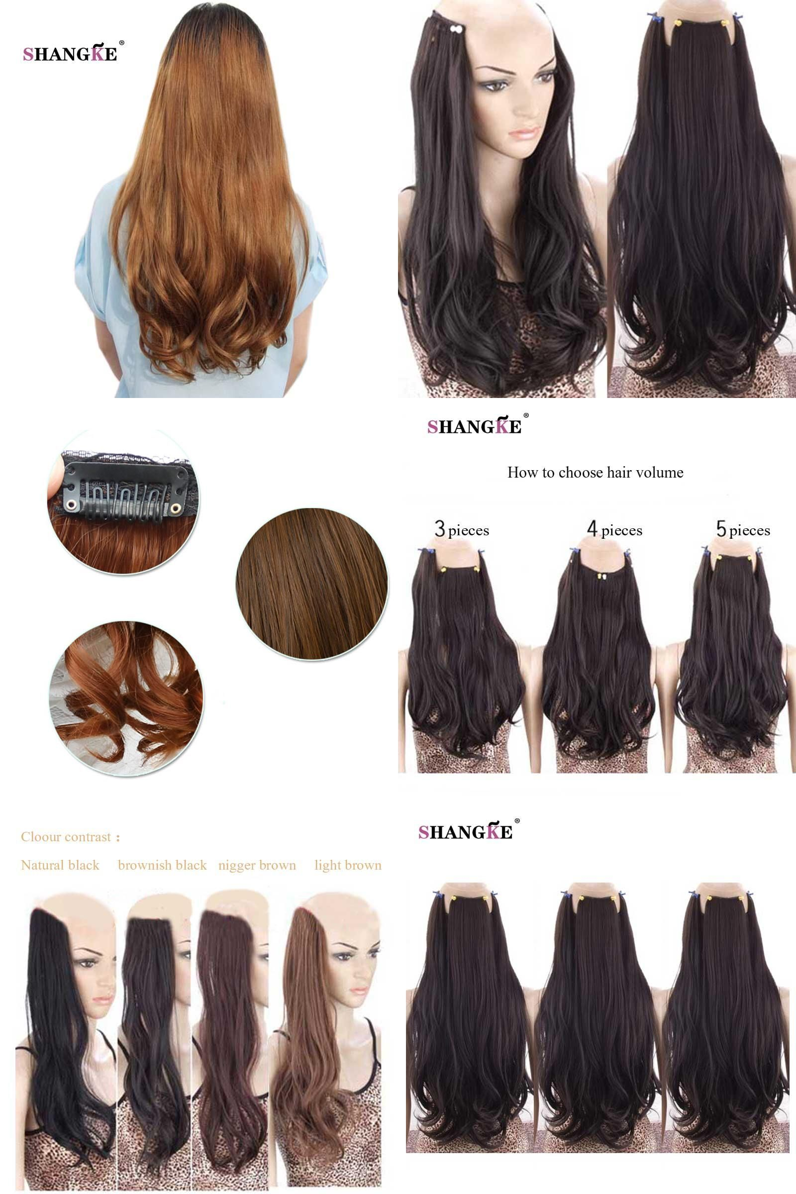 Visit To Buy Shangke Long Wavy 2 Clips In Hair Extensions Natural