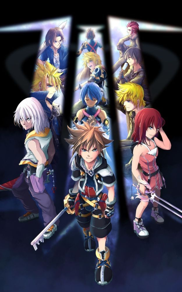Kingdom Hearts 3 Huge Poster 24 In X 15 In Fast Shipping In