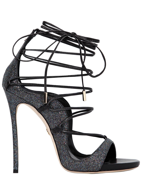 glitter Riri sandals - Black Dsquared2 WCp77OA