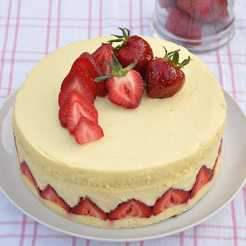 Fraisier Cake Recipe, My Mouth Is Watering! Good Thing My