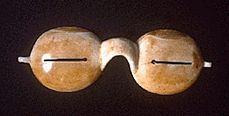This is a prehistoric Eskimo protective eyewear.