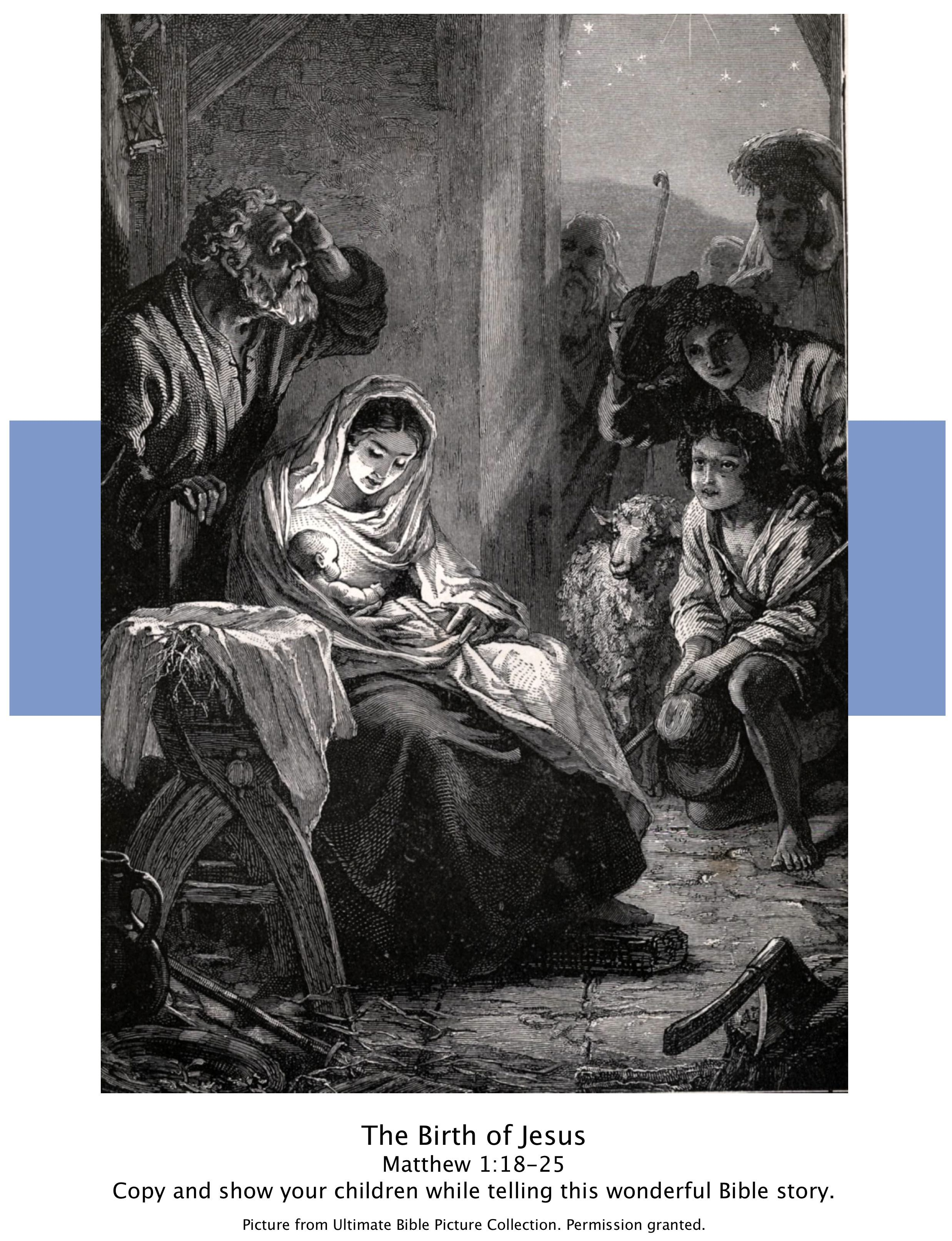 Bible Story Pictures The Birth of Jesus Birth of jesus