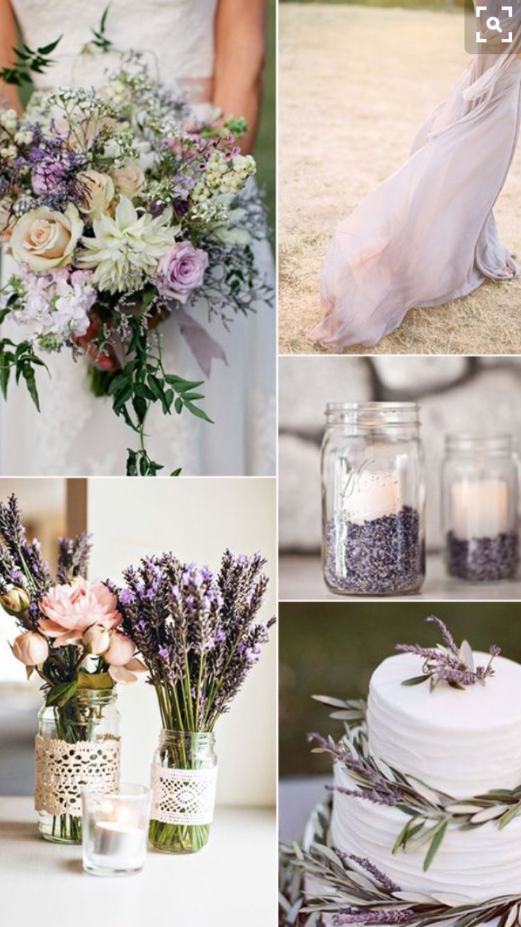 Lavender decor for wedding Not the colors but the styling and the cake  Ideas  Pinterest