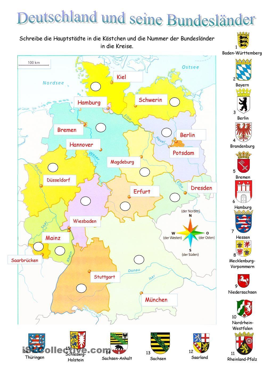 Deutschland Und Seine Bundeslander Deutsche Grammatik