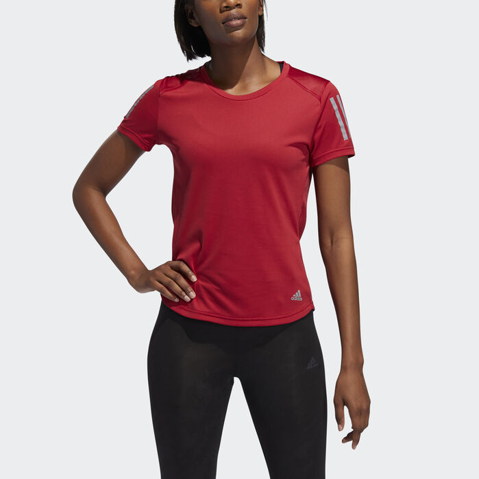 Own the Run Tee | Running women, Black adidas, Women