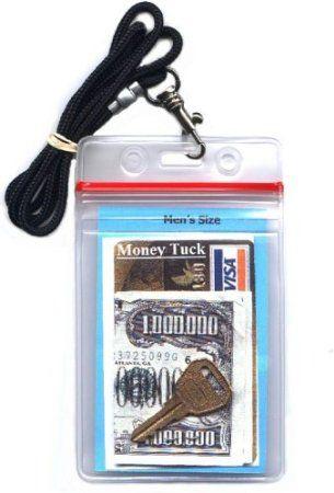 Money & ID Holder (Water resistant) - Men's 34 Inch Lanyard