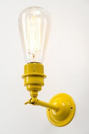 Industrial wall light - Yellow Lamp,Fonar,Lantern,Torch