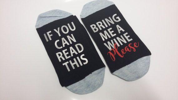 Stocking Filler Wine Beer Coffee Hidden Message Socks Bring Me