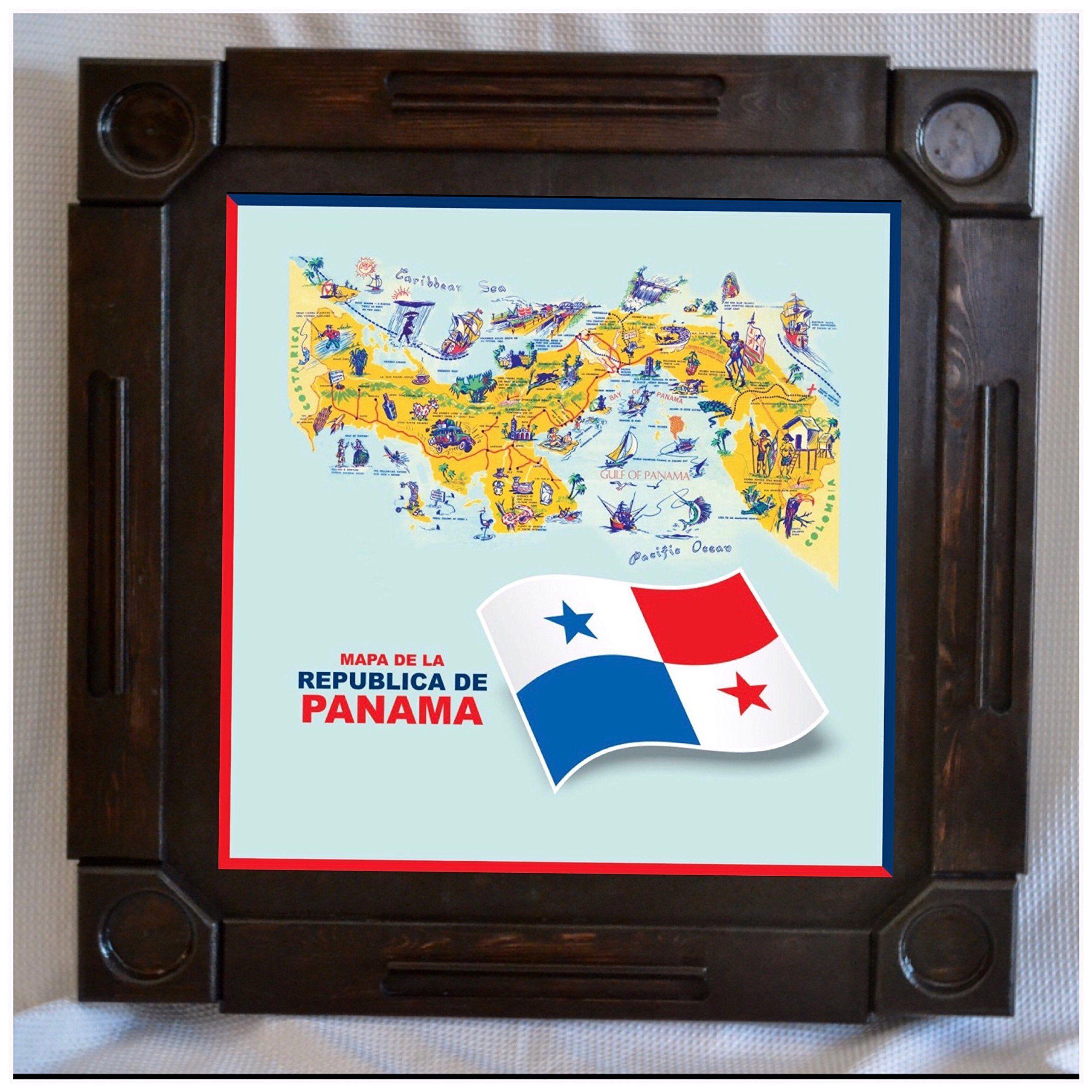 Wooden/wood Dominoes/domino Table/mesa Custom Made Panama Flag/