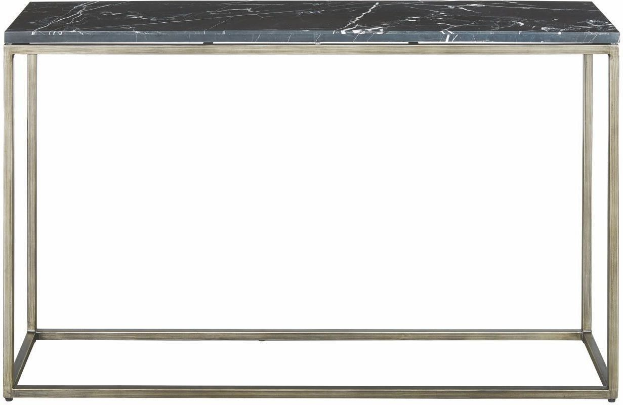 Julien Black Marble Top Console Table From Casana Coleman Furniture Marble Top Console Table Sofa Tables For Sale Living Room Table