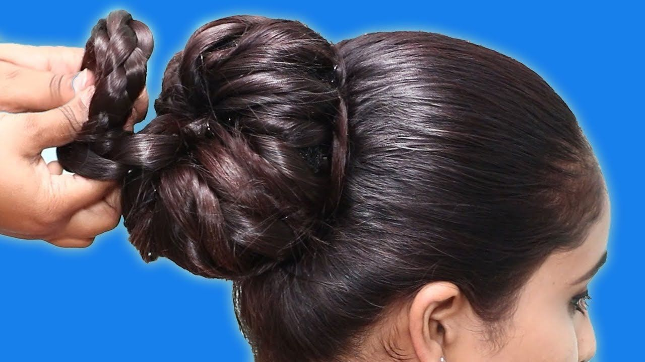 Easy And Cute Bun Hairstyle For Girls Hair Style Girl New Juda Hairstyles 2020 Bridal In 2020 Cute Bun Hairstyles Bun Hairstyles Hair Styles