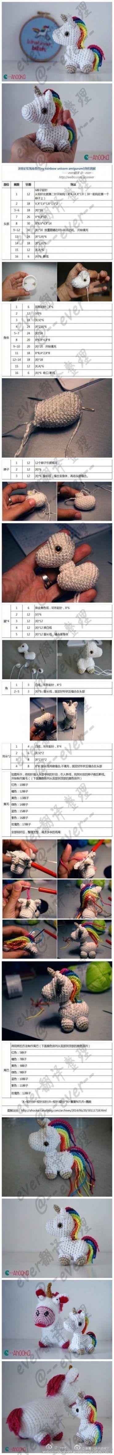 Kit de crochet de unicornio, sonaja, amigurumi y portachupon ... | 4698x370