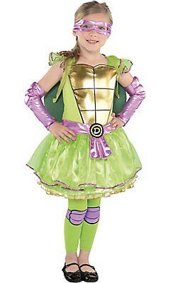 Little Girls Donatello Costume Teenage Mutant Ninja Turtles Toddler Costumes Girl Cute Toddler Halloween Costumes Toddler Halloween Costumes