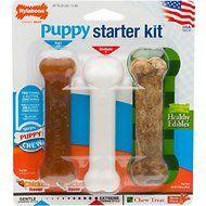 Nylabone Puppy Chew Starter Kit Triple Pack Dog Bone Toys Puppy