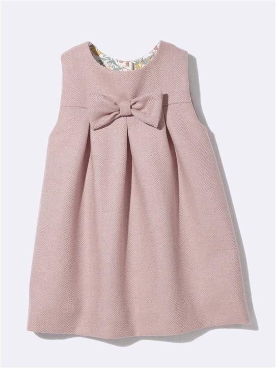 33460b11a BABIES' FLANNELETTE DRESS WITH LIBERTY® PRINT LINING RASPBERRY+GREY ...