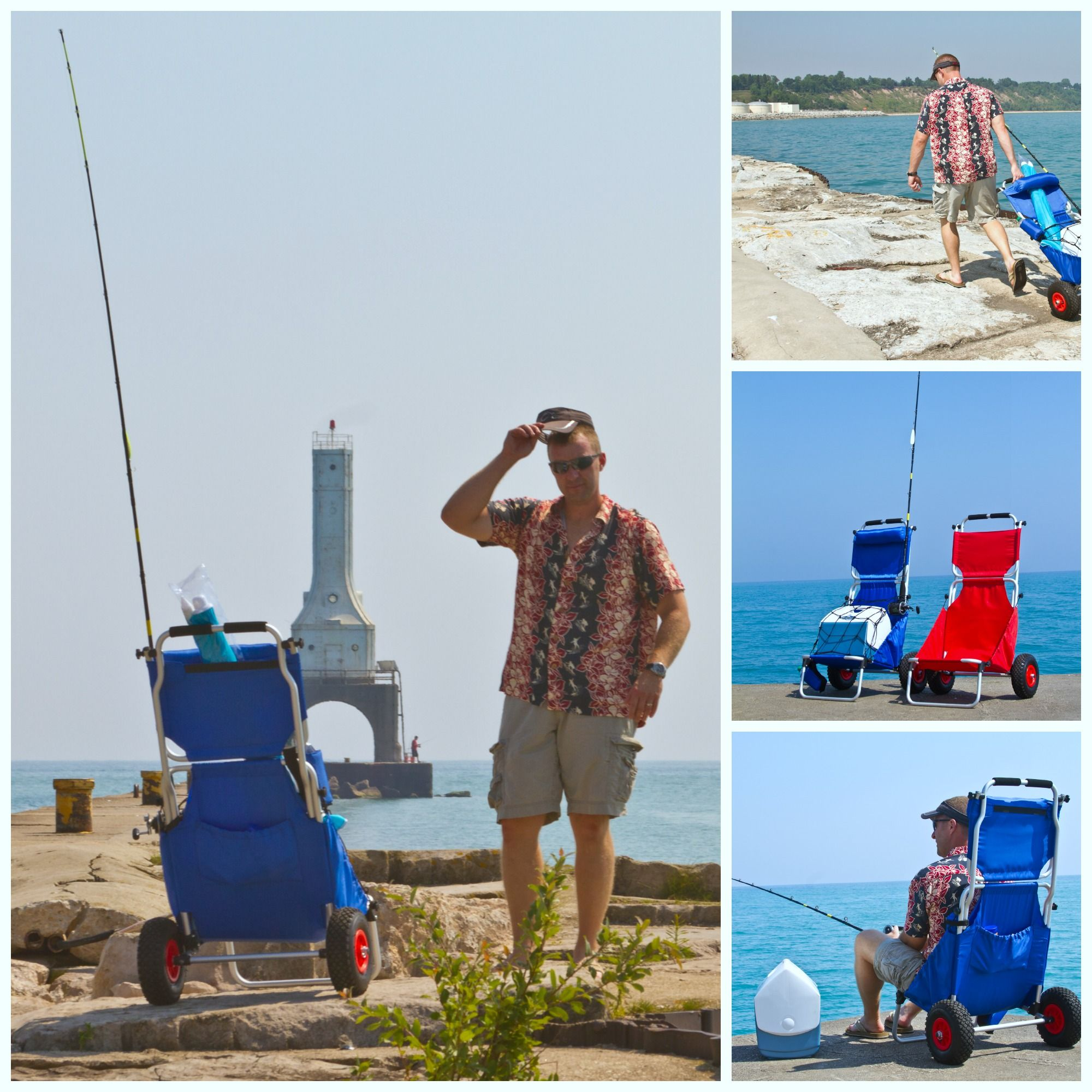 Fishing Cooler Chair Steel Wiki Harbor Mate Folding Beach And Cart
