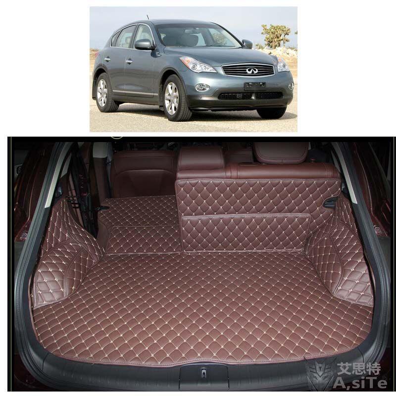 Custom Fit Luxury Pu Leather Car Trunk Mat Cargo Mat For Infiniti