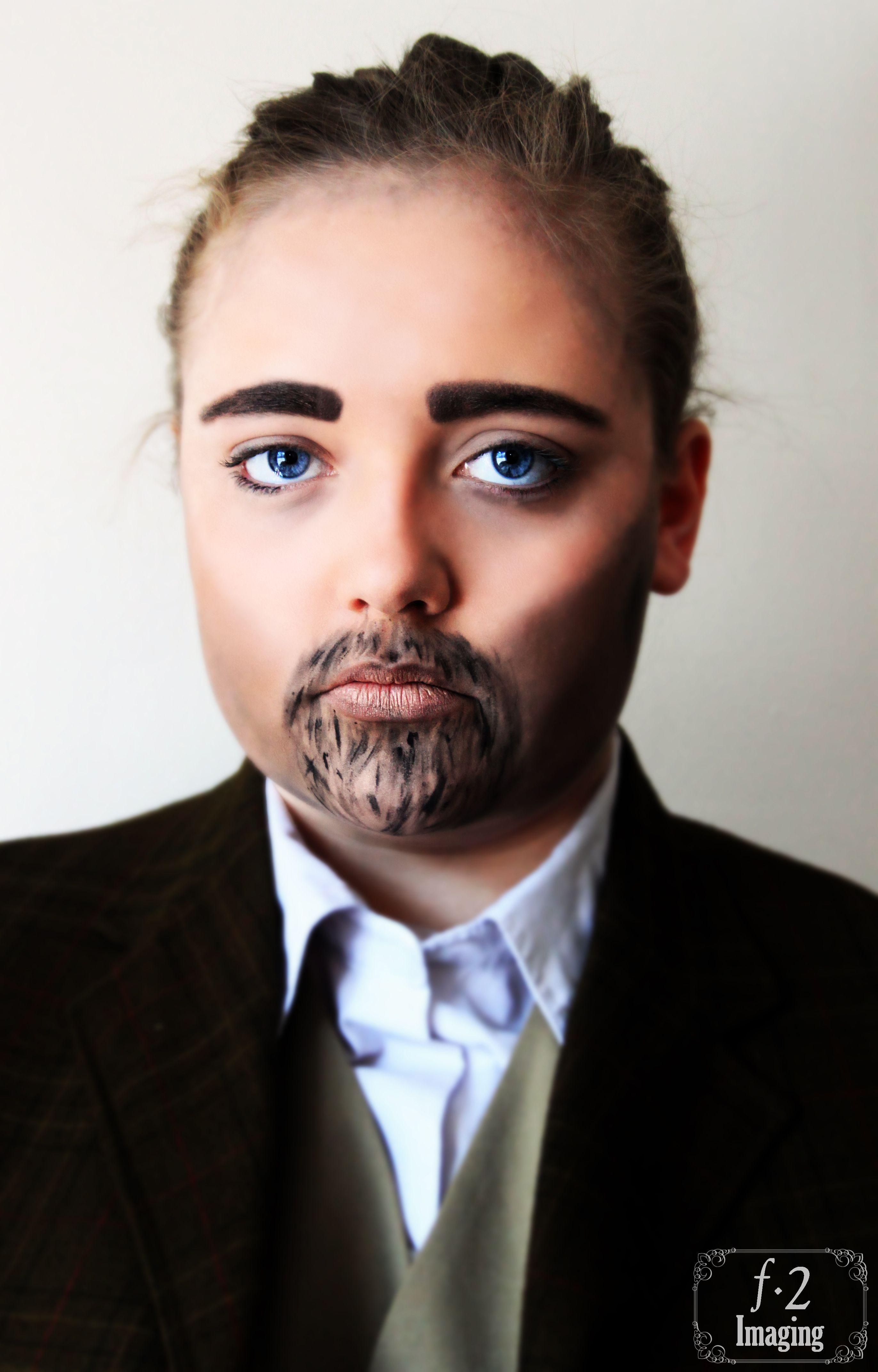 Emasculation Studio photography, Face makeup, Halloween