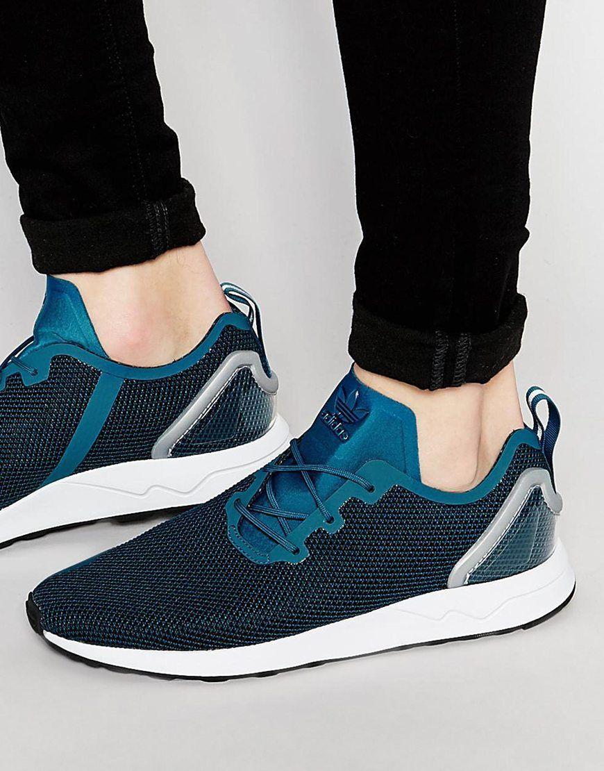 Adidas originali asimmetrica zx flusso scarpe aq6657< 7