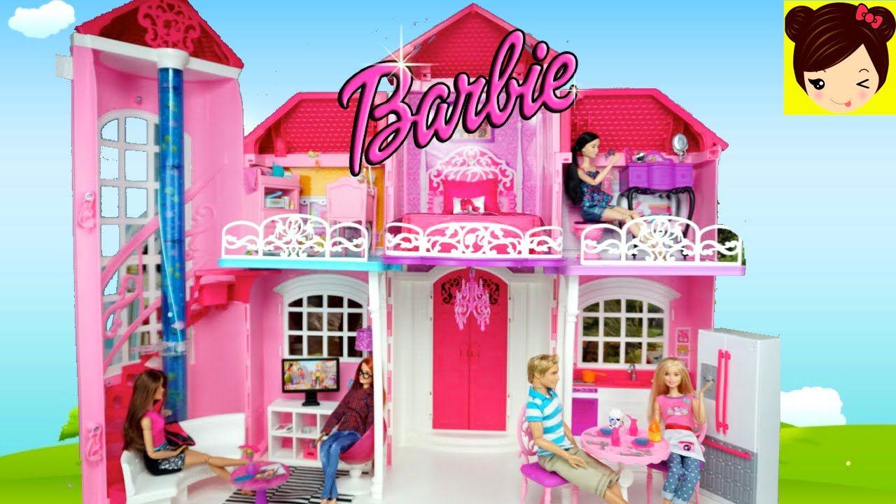 Decorando La Casa De Muñecas Barbie Malibu Juguetes De Barbie Con