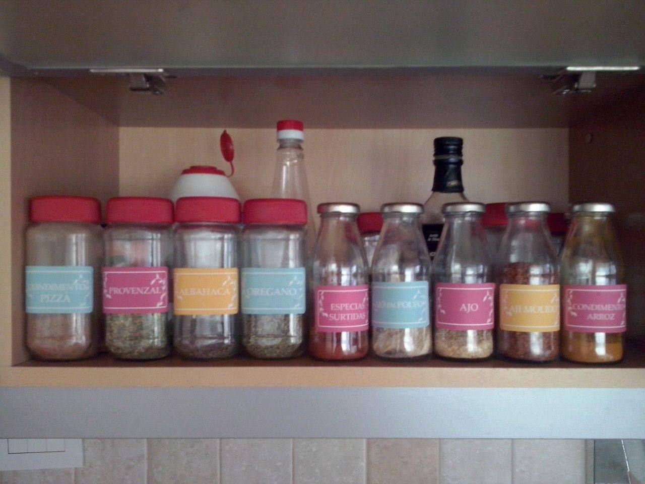 Etiquetas para frascos de condimentos | Cocina | Pinterest ...