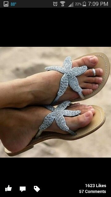 Shoes/sandals/starfish/summer