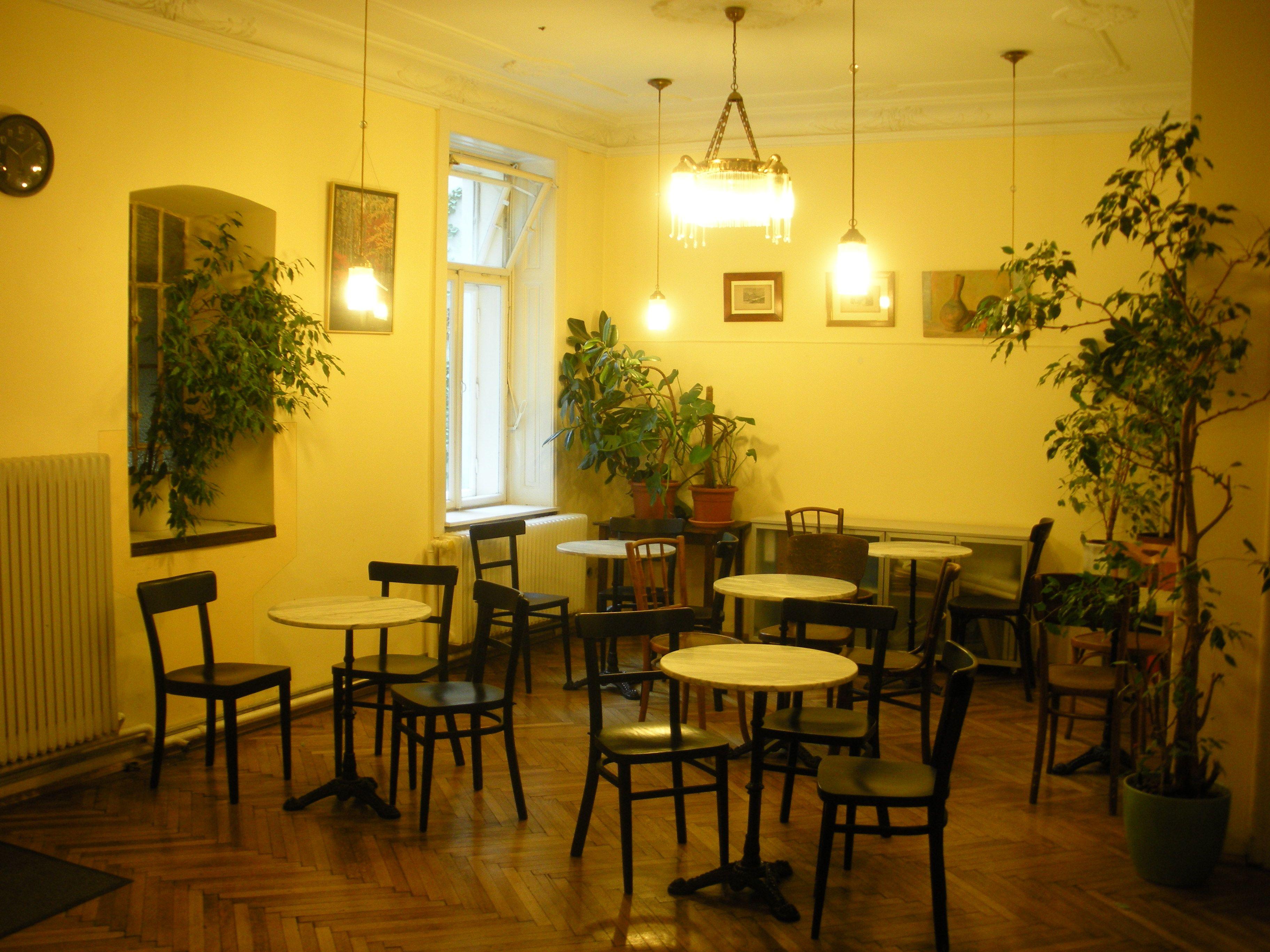 Unser Pausenraum ist die kommunikative Drehscheibe in unserem Sprachenzentrum. In unseren Englisch- und Deutschkursen in Wien lernen Teilnehmerinnen aus vielen verschiedenen Ländern.