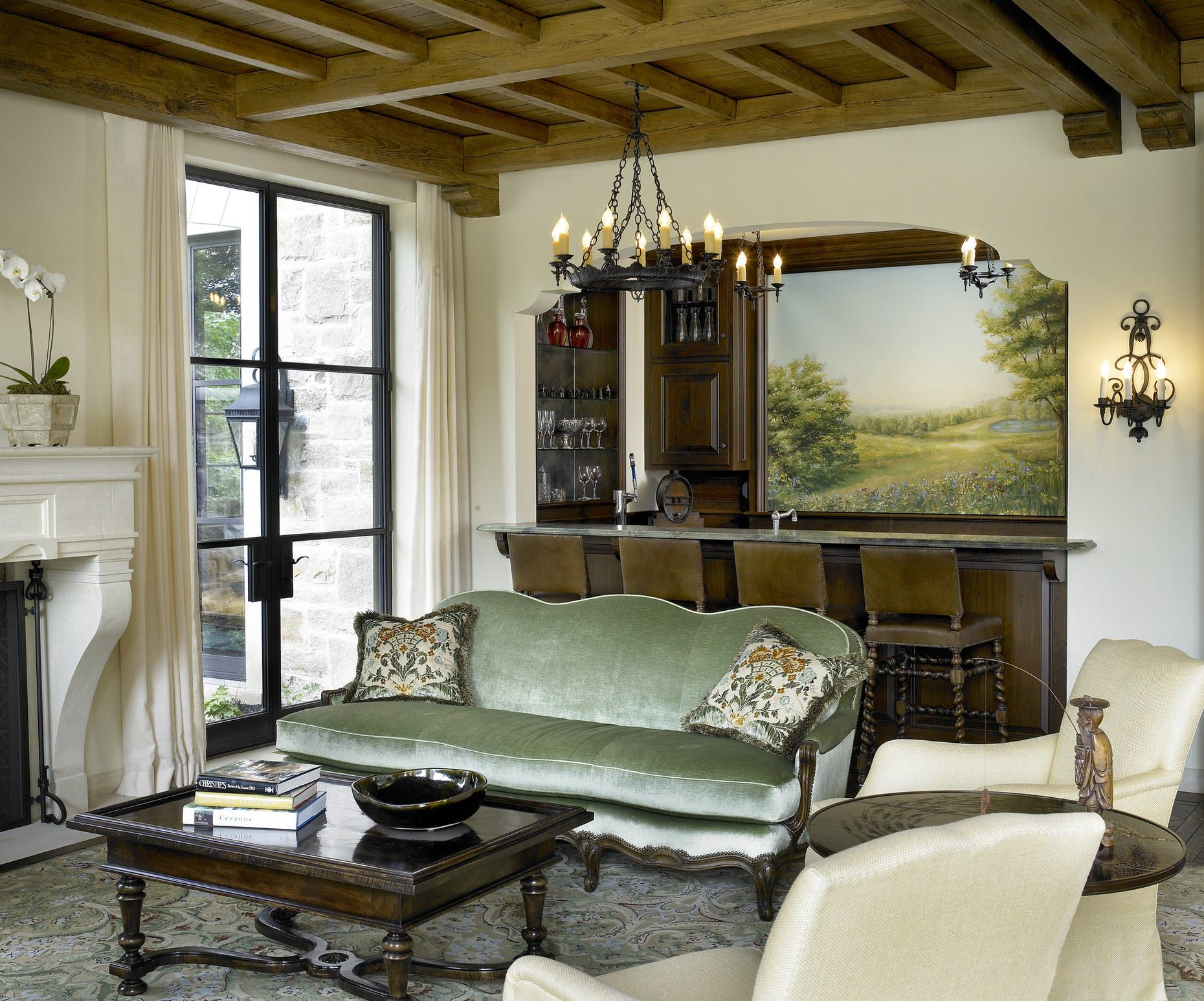 Frank Ponterio Interior Design Portfolio Interiors Eclectic Victorian Living  Room Bar Family Room?