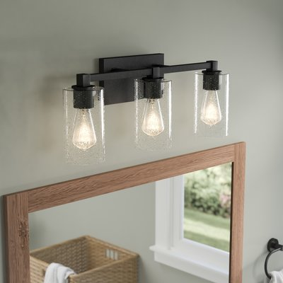 Mcdowell 3 Light Vanity Light With Clear Seeded Glass Love This