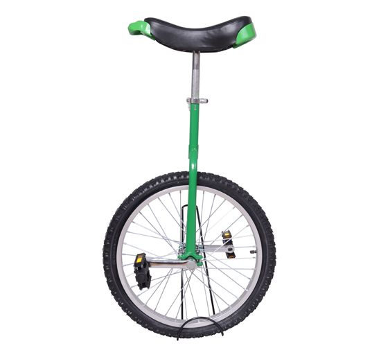 Aosom New 20 Unicycle With Stand Green 20 Wheels Unicycle