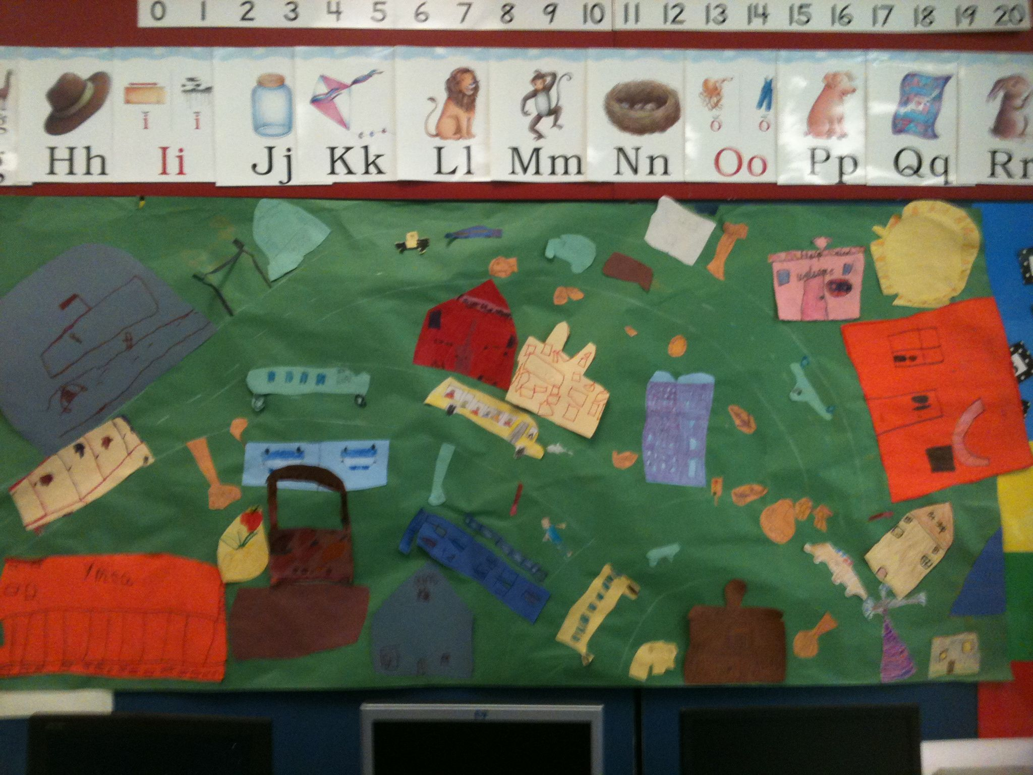 Map of our first grade busy town   My Style   Pinterest   Social studies Map of our first grade busy town