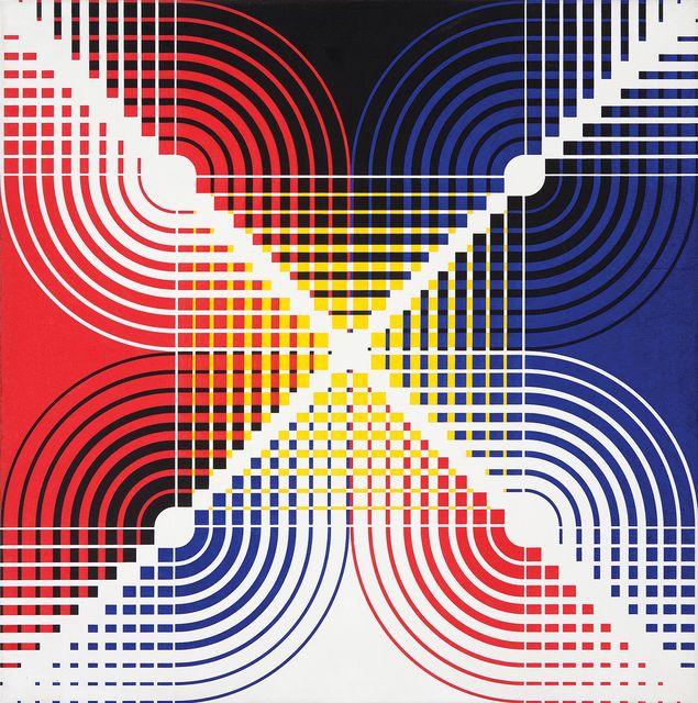 Antônio Maluf, 'Progressões crescentes e decrescentes com curvas,' ca. 1990, Galeria Frente