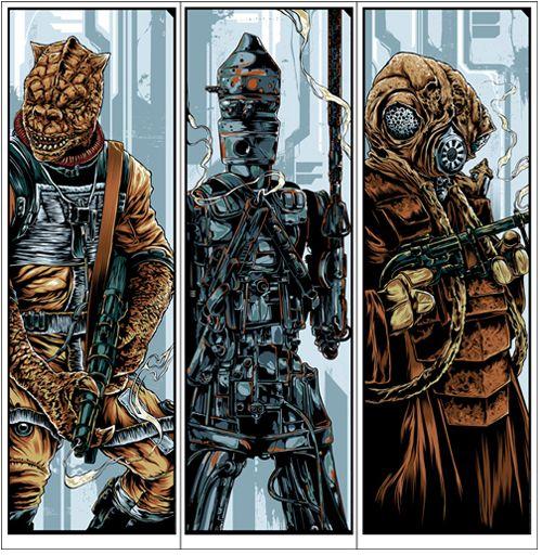 Mondo Star Wars bounty hunters