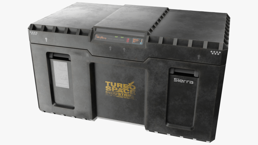 3d Model Military Sci Fi Crate Loot Crate Crates Pbr