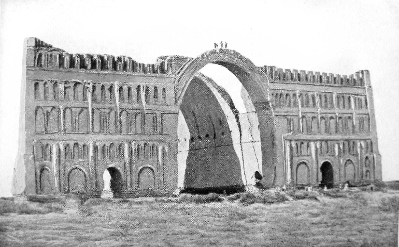 the arch of ctesiphon taq i kisra in has been trashed in centre