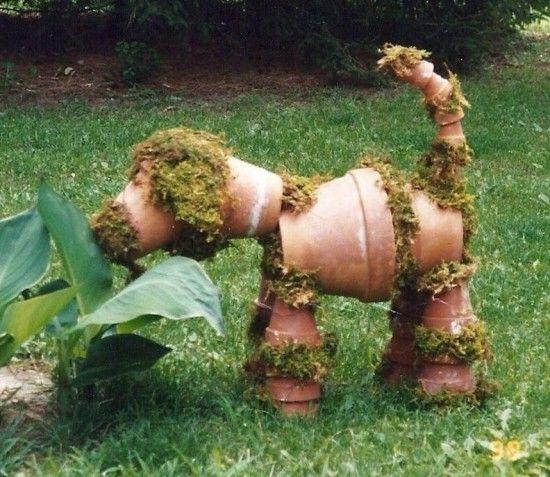 22 mod les d 39 animaux bricoler en pot de terre cuite pour d corer le jardin deco jardin. Black Bedroom Furniture Sets. Home Design Ideas