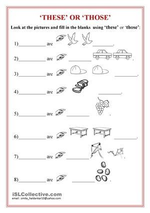 Download This That These Those Worksheet Digiwarez English