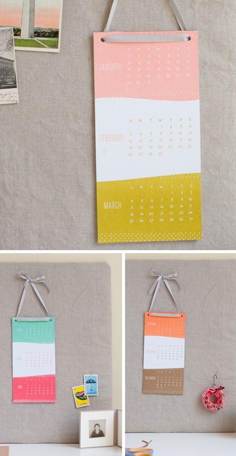 simple song calendars via oh joy.