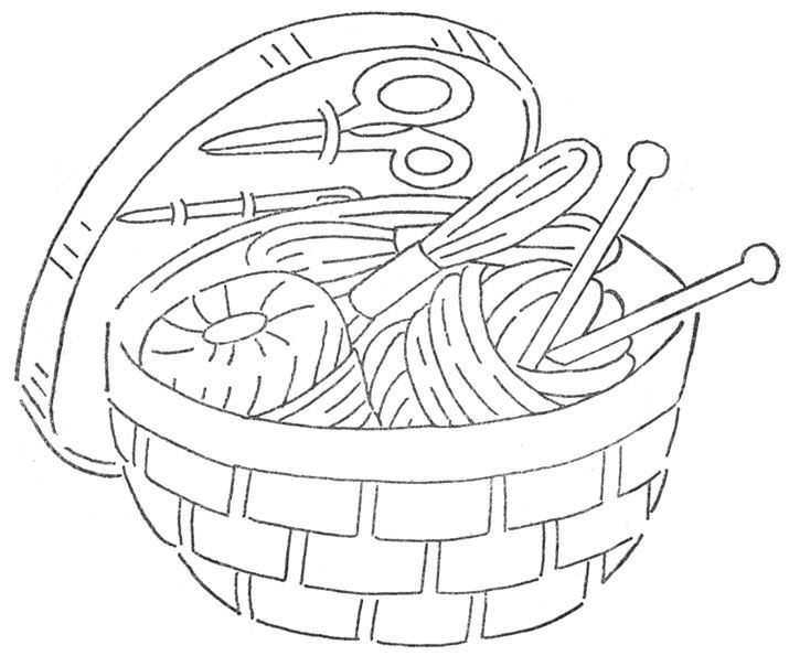 Q is for quilter sewing basket many more wonderful Coloring book embroidery