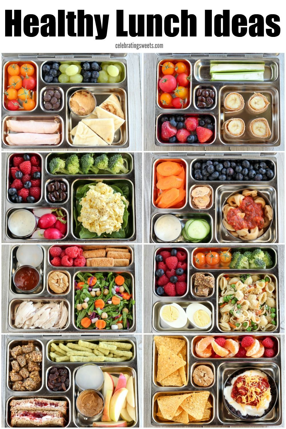Healthy Lunch Ideas For Kids And Adults Celebrating Sweets In 2020 Easy Healthy Lunches Healthy Lunches For Work Healthy Packed Lunches
