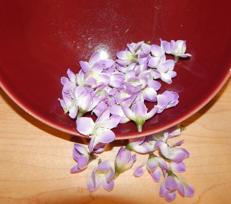 Diy Silk Cherry Blossom Mini Heads 42 Pcs Purple