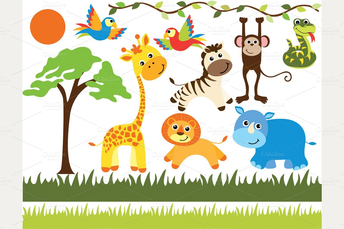 African Safari Animals Safari Baby Animals Clip Art Safari Animals