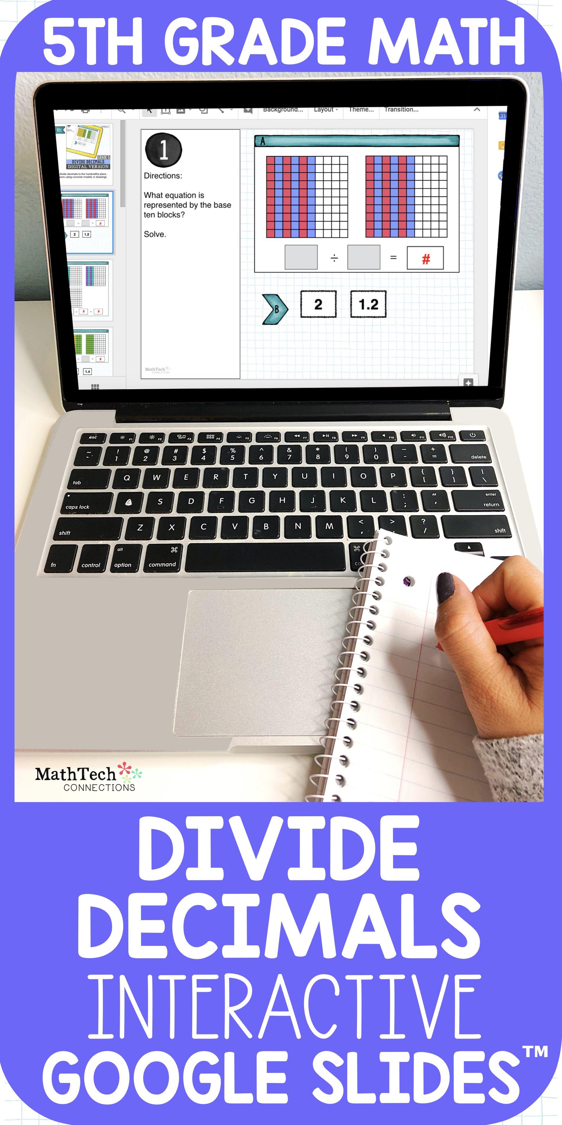 Divide Decimals 5th Grade Math Centers For