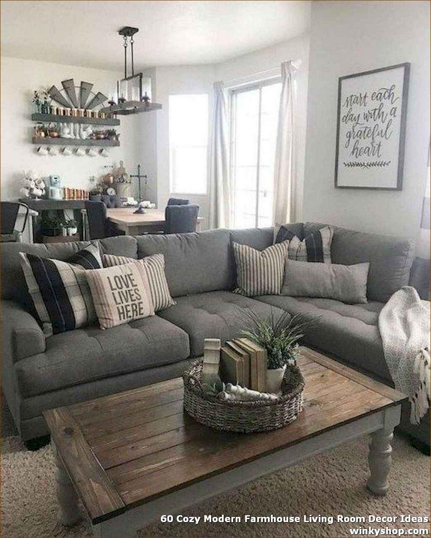 10 Cozy Modern Farmhouse Living Room Decor Ideas ✓   Farmhouse ...