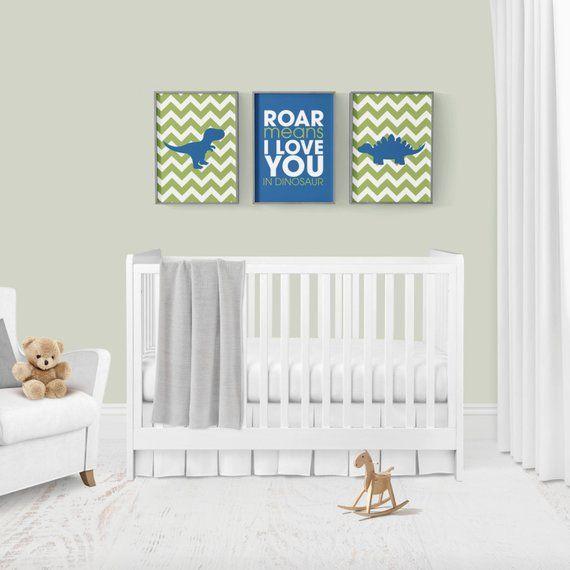 Dinosaur Nursery Decor Printable Art Baby Boy Nursery
