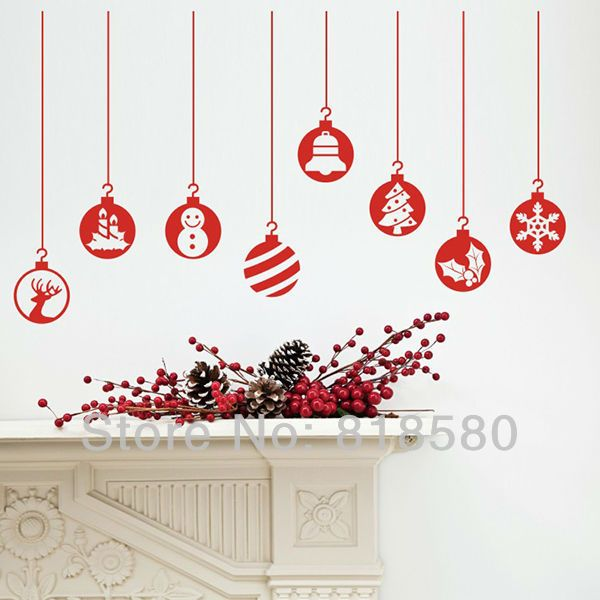 christmas wall art stickers